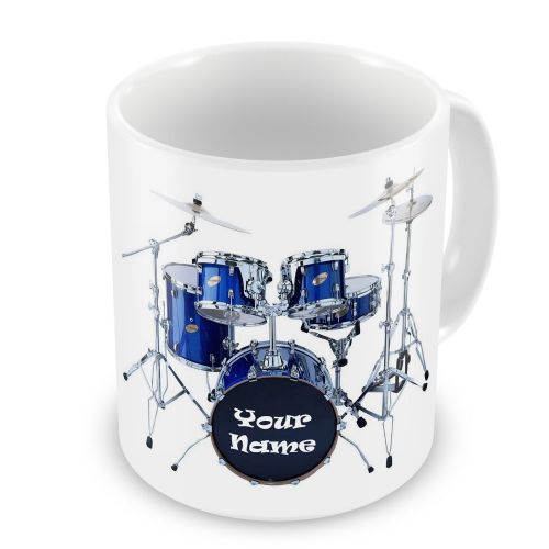Personalised Any Name Drum Kit Novelty Gift Mug